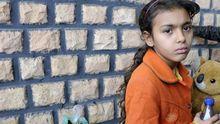 Ein marokkanisches, aus Libyen geflüchtetes Mädchen im Choucha Flüchtlingslager nahe der tunesischen Grenze