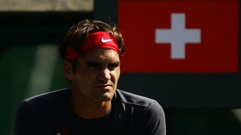 Schweizer Männer: Der Schweizer Tennisspieler Roger Federer