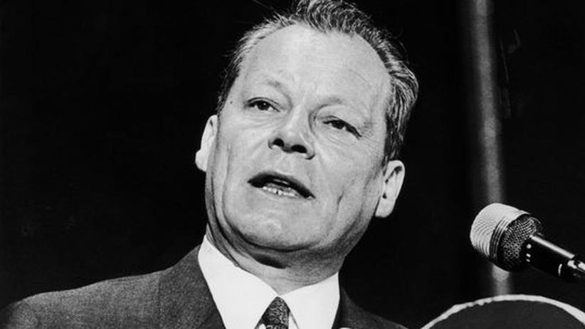 Willy Brandt im Juni 1969 bei einer Rede