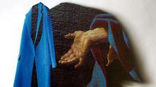 Übergroßer blauer Mantel von Céline für 2700 Euro