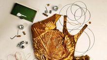 Schöner Schein: Goldenes Kleid von Ralph Lauren Collection 8950 Euro