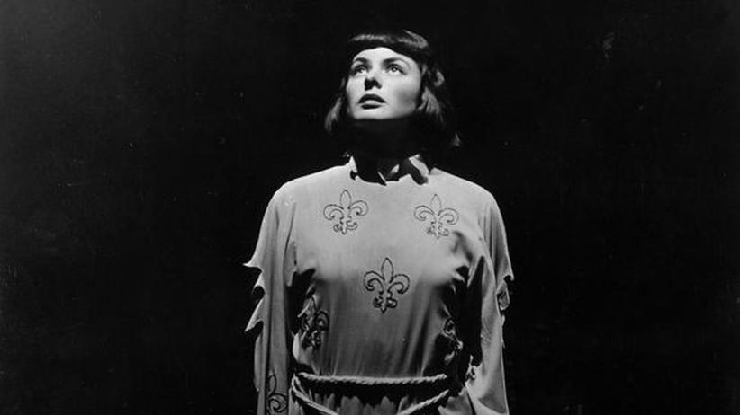 Ingrid Bergman als Johanna von Orléans in einer Verfilmung aus den 1940er Jahren