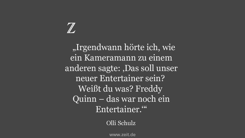 Olli Schulz über ein besonderes Erlebnis
