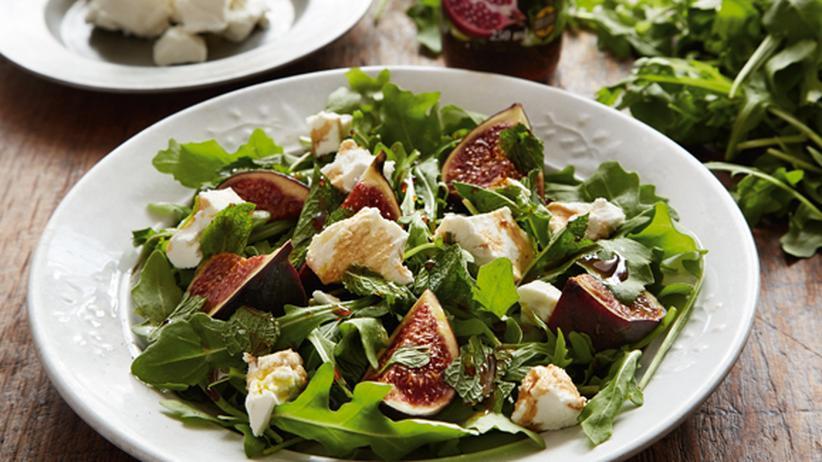 Schneller Salat mit Feige