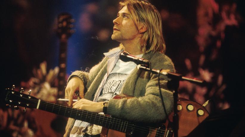 Kurt Cobain beim MTV Unplugged Konzert 1993