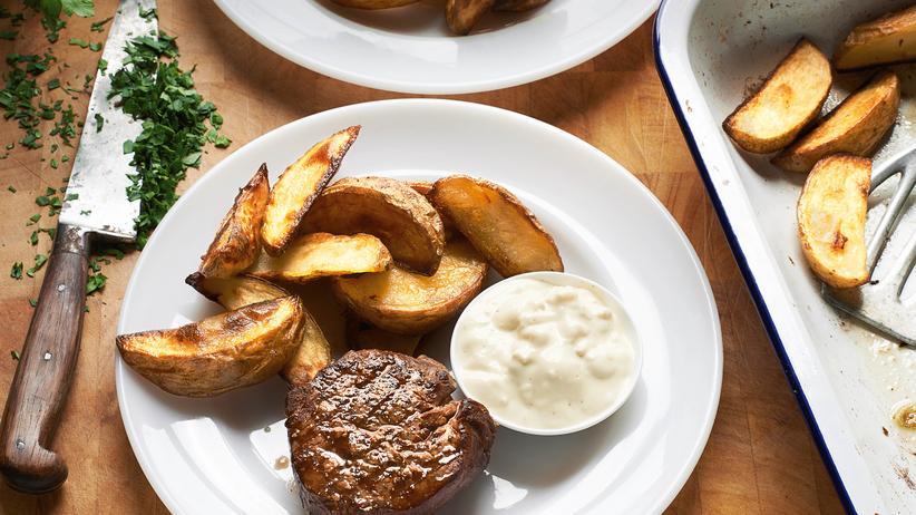 Steak mit Blue Cheese Sauce
