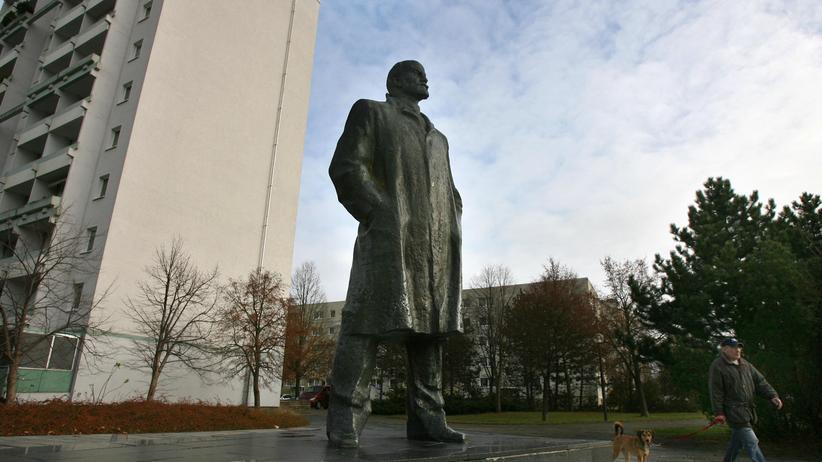 Lenin-Denkmal: Die Lenin-Statue in Schwerin