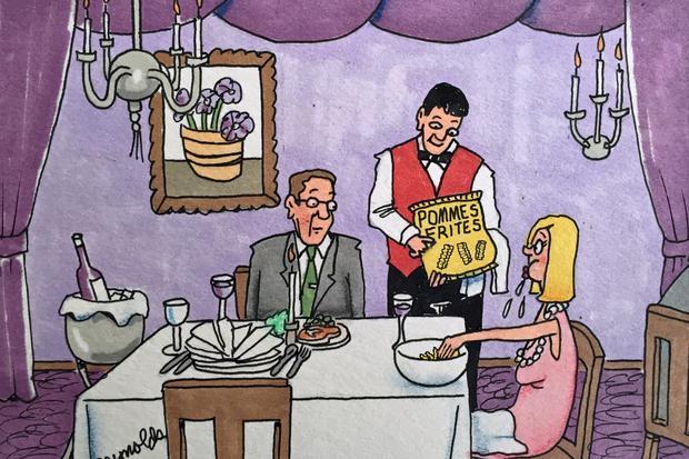 Tischmanieren: Hand im Glück