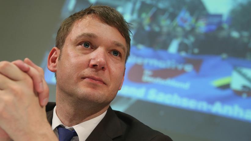 AfD: André Poggenburg, AfD-Spitzenkandidat in Sachsen-Anhalt