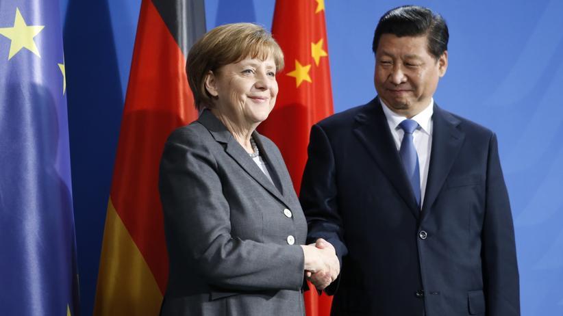 Angela Merkel in China: Angela Merkel und Chinas Präsident Xi Jinping bei einer Chinareise Merkels im März 2014.