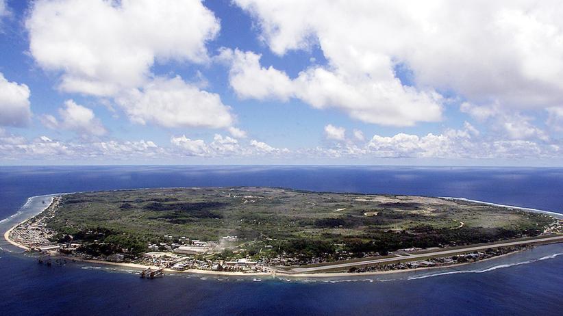 Die Insel Nauru von oben