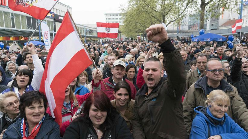 Anti-Flüchtlingsdemo in Wien