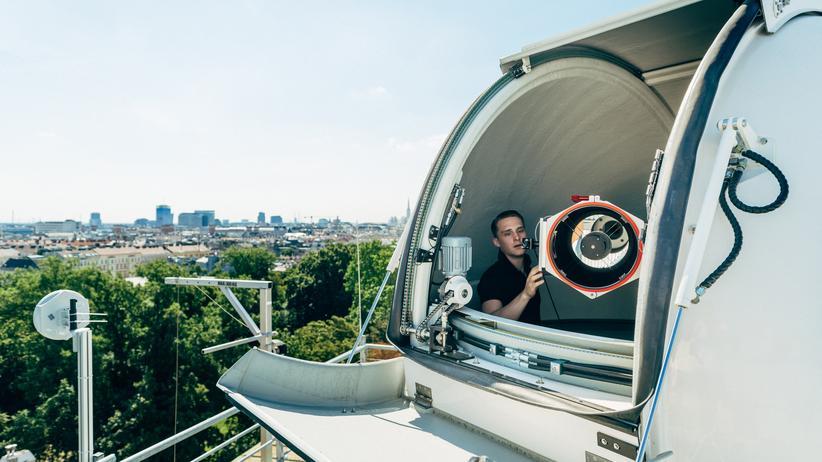 """Quantenphysik: Das """"Hedy Lamarr Quantum Communication Telescope"""" der Österreichischen Akademie der Wissenschaften (ÖAW) und der Universität Wien."""