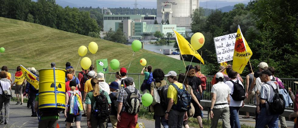 Anti-Atomkraft-Protest Schweiz
