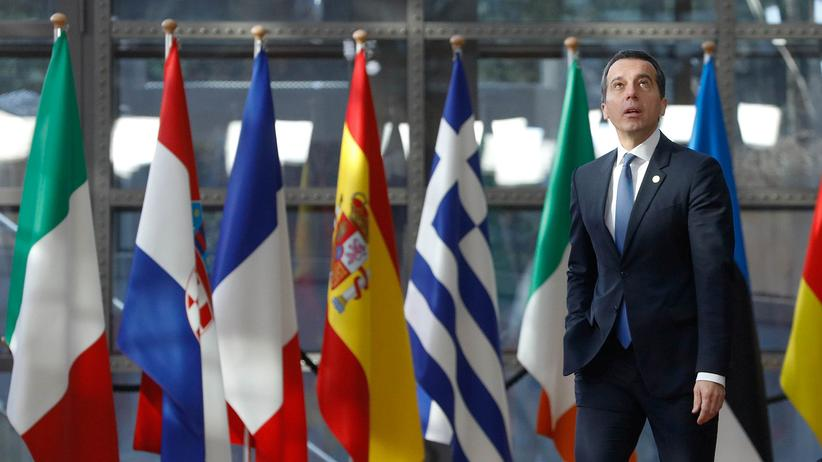 Christian Kern kommt am 10. März 2017 auf dem EU-Gipfel in Brüssel an.