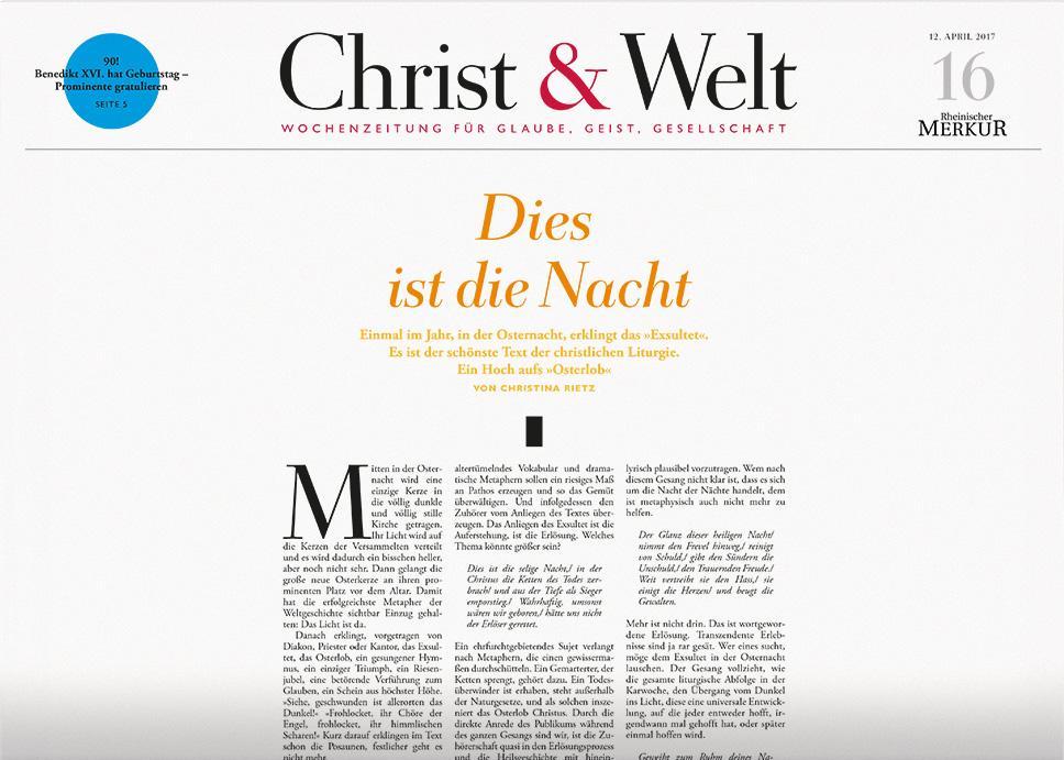 Christ & Welt 16/2017