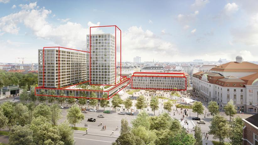 Entwurf für das Wiener Heumarkt-Projekt
