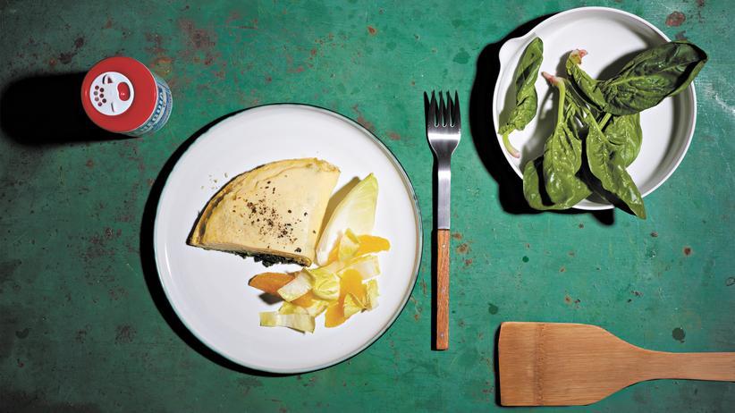 Omelett mit Püree: Fließender Übergang