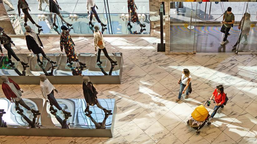 Ein Einkaufszentrum in New York