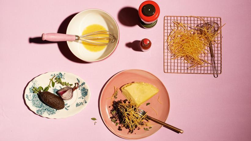 Omelette Strohkartoffel