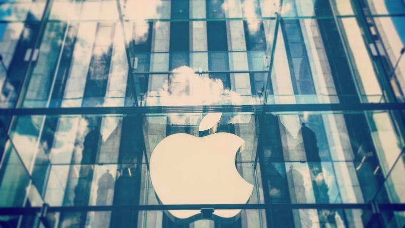 Netzkultur: Fensterfront des Apple Store in New York