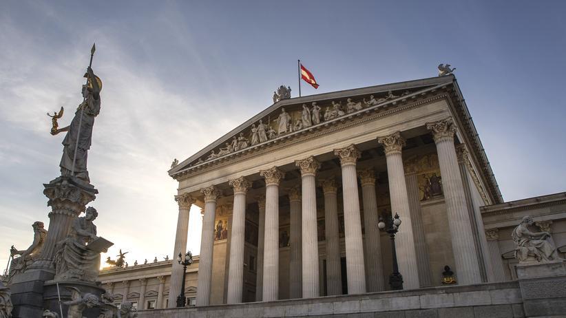 Das Österreichisches Parlament in Wien