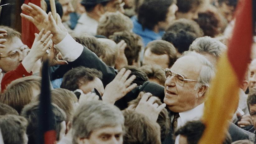 Helmut Kohl bei seinem Besuch in Erfurt am 20.Februar 1990