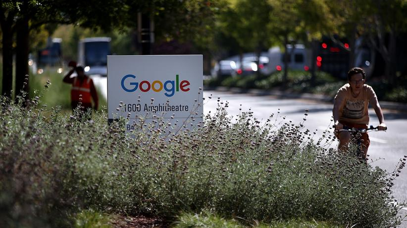 Google: Das Google-Logo in Mountian View, Kalifornien