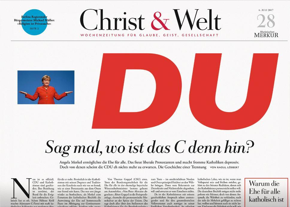 Christ & Welt 28/2017