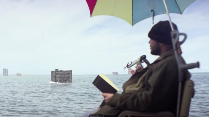 """Kapitalismuskritik: Die Überlebenden des Kapitalismus – Szene aus dem K.I.Z.-Video """"Hurra, die Welt geht unter"""""""