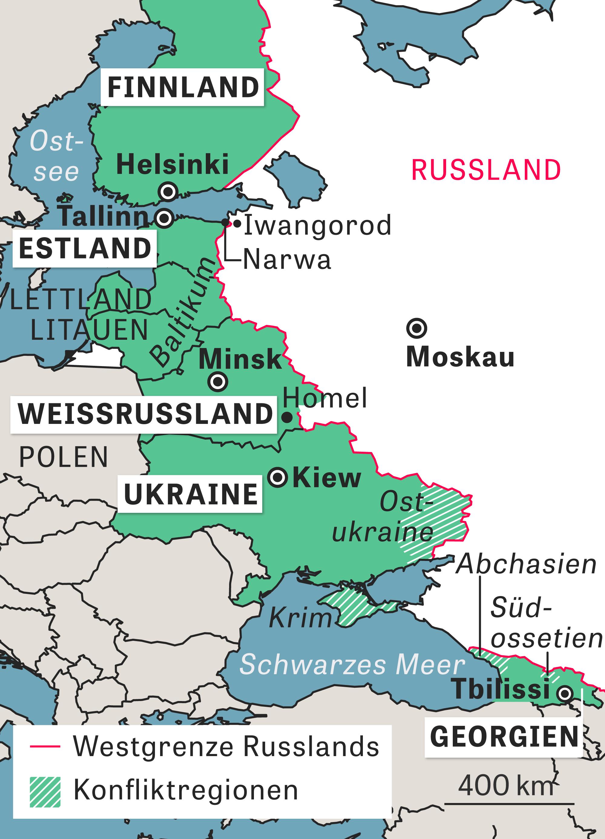 Karte Iran Nachbarlander.Russlands Nachbarlander An Den Grenzen Der Macht Zeit Online