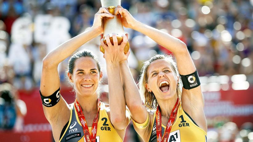 Die Beachvolleyball-Damen Laura Ludwig und Kira Walkenhorst