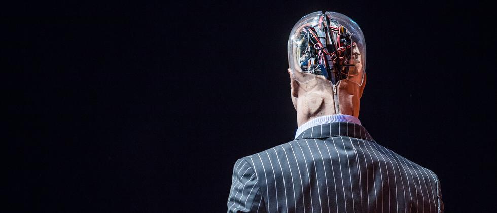 Roboter Mann Anzug Künstliche Intelligenz Han Humanoid