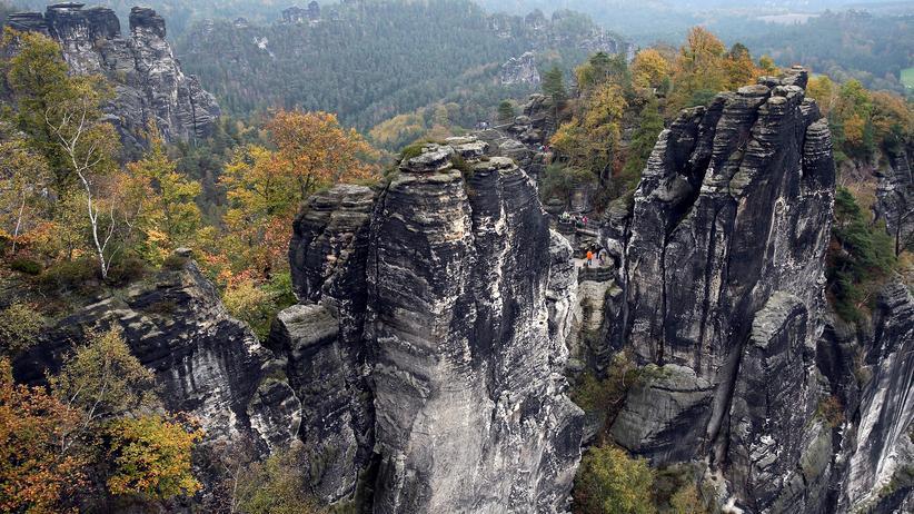 """Leben in Deutschland: 150mal taucht die """"Schweiz"""" auf deutschen Landkarten auf. So wie hier, in der Sächsischen Schweiz"""