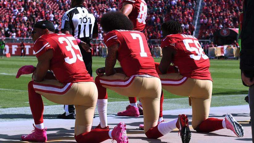 Protest der Sportler: Auf den Knien gegen Rassismus