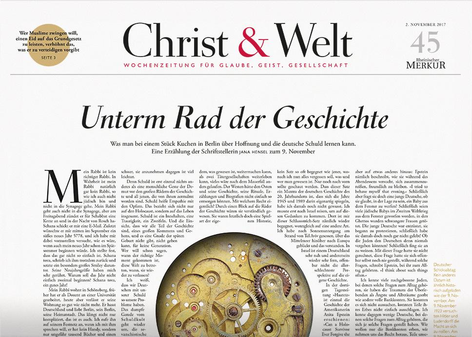 Christ&Welt 45/2017