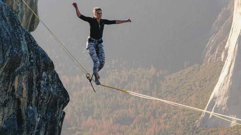 Werber Stefan Wegner: Seiltänzerin im Yosemite Valley