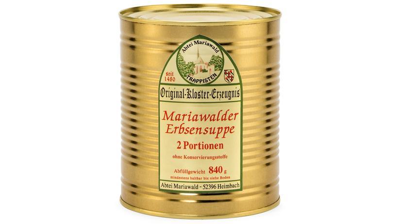 Produkte aus Klöstern: Erbsensuppe, eine edle Pilgerspeise