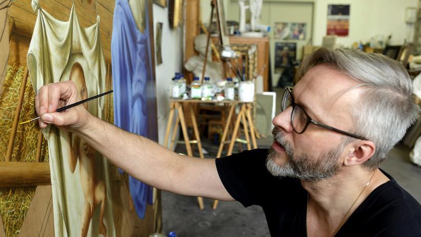 Michael Triegel: Der Maler Michael Triegel in seinem Atelier