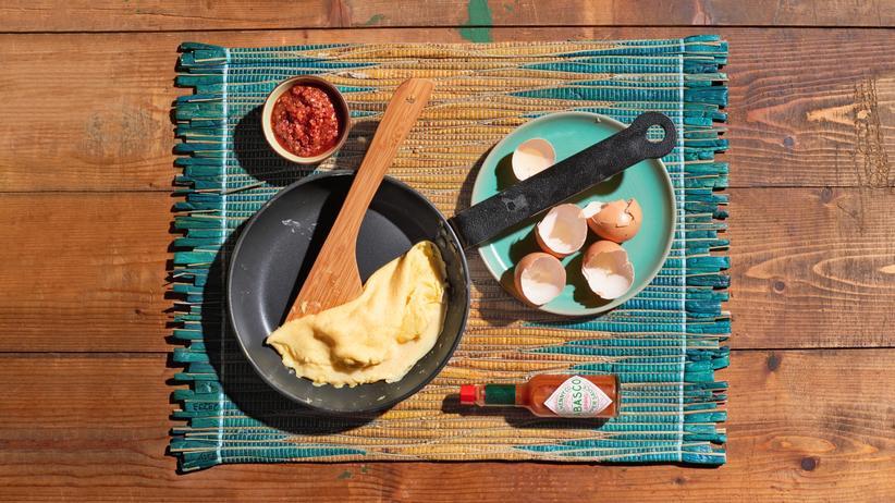 Omelett: Bitte wenden
