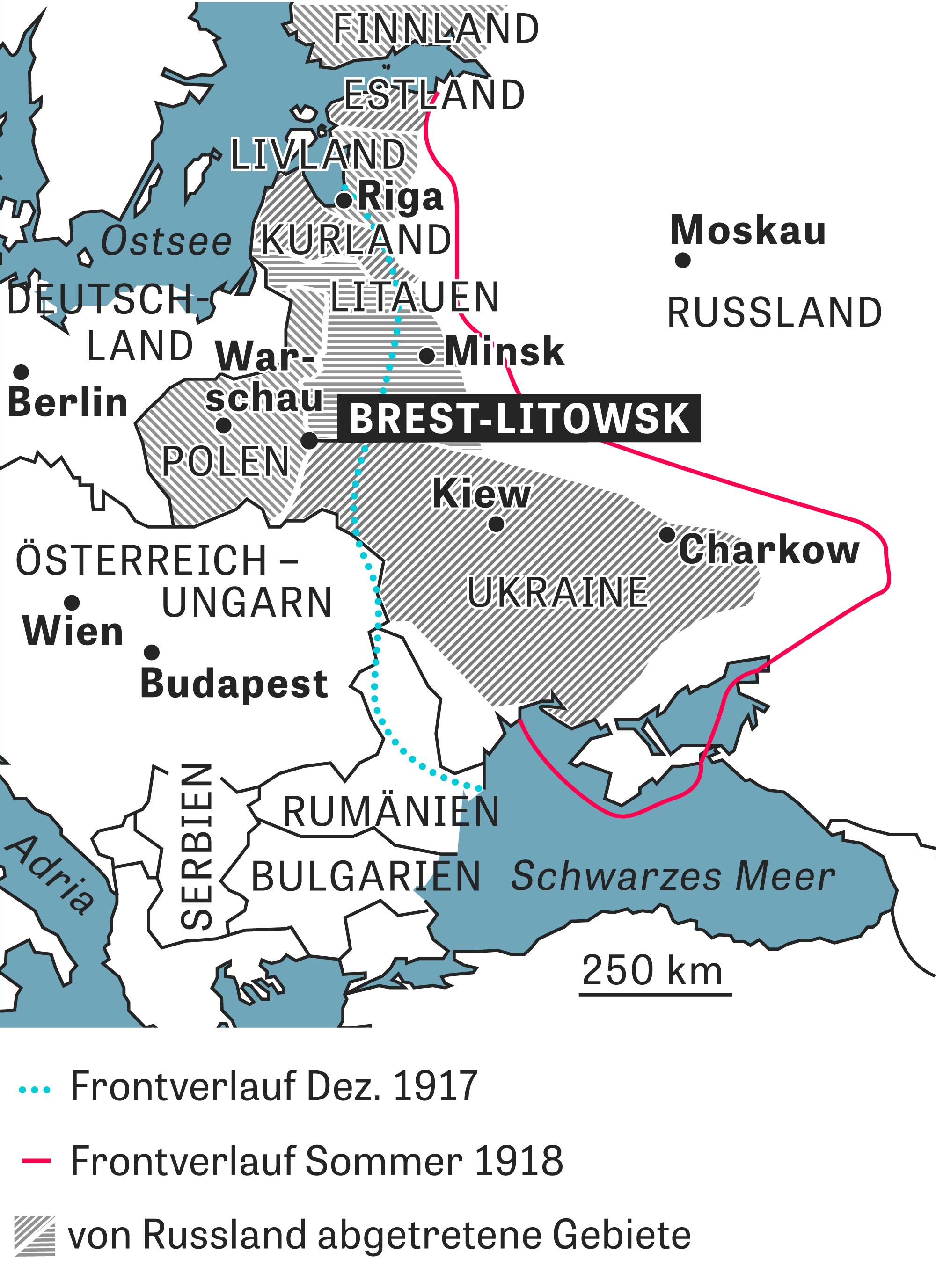 Friedensvertrag von Brest-Litowsk: Ein Schandfrieden ...
