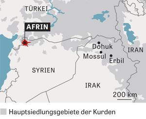 Hauptsiedlungsgebiete der Kurden