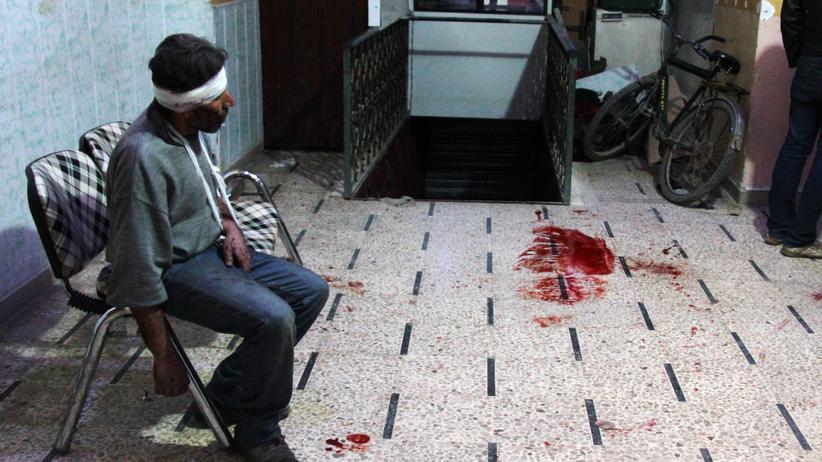 Syrien: Ein Zivilist wurde durch einen Giftgas-Angriff in Syrien verletzt.