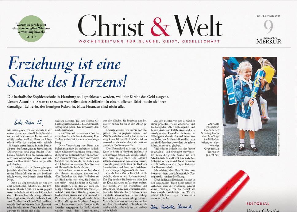 Christ&Welt 9/2018