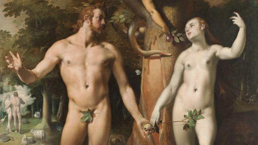 """Adam und Eva: """"Der Sündenfall"""" von Cornelis van Haarlem, 1592 (Ausschnitt)"""