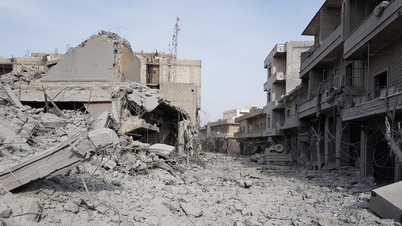 Afrin: In den Straßen von Afrin hatten die Kämpfer der kurdischen Miliz keine Chance gegen die türkischen Invasoren.