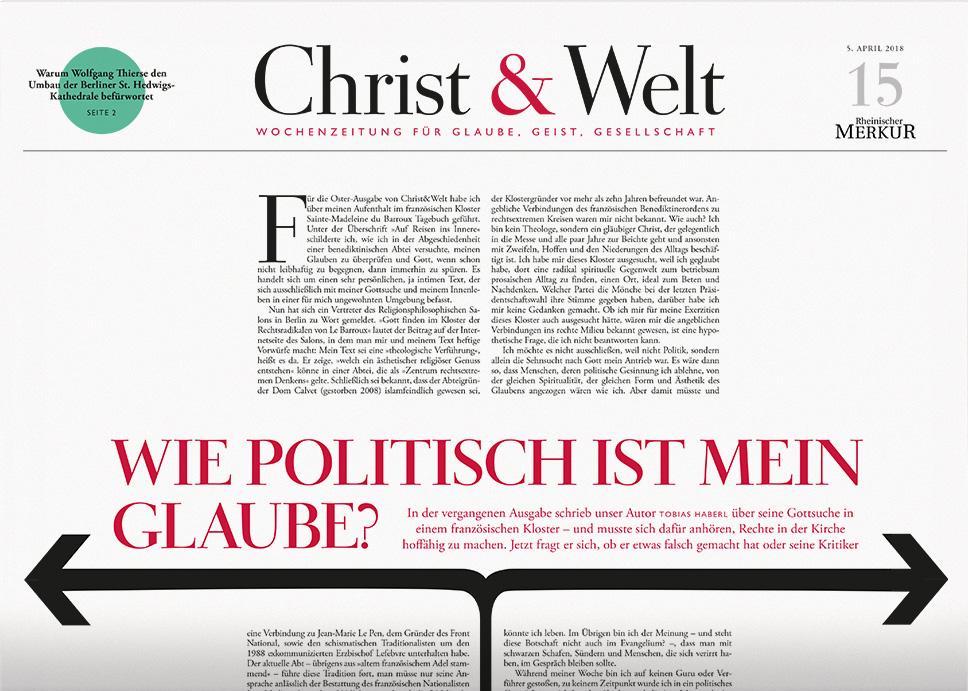 Christ&Welt 15/2018