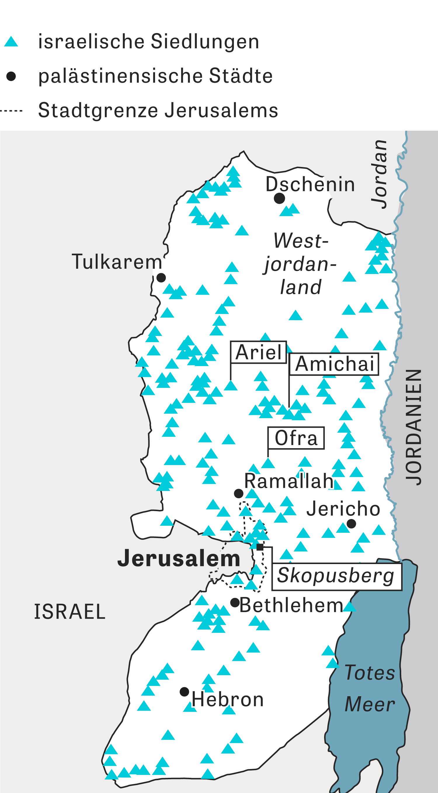 Israel: Grafik zu Jerusalem