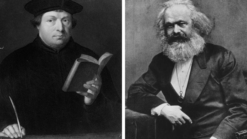 Karl Marx und Martin Luther: Was hat er, was er nicht hat?