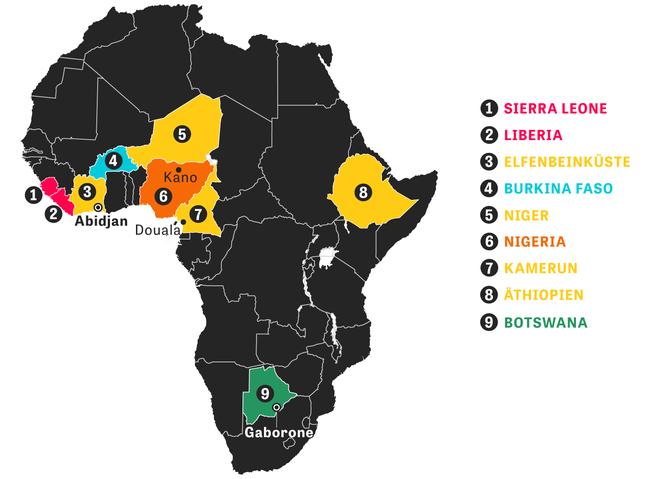 Afrika Karte Staaten.Afrika Der Afrikanische Fluch Zeit Online